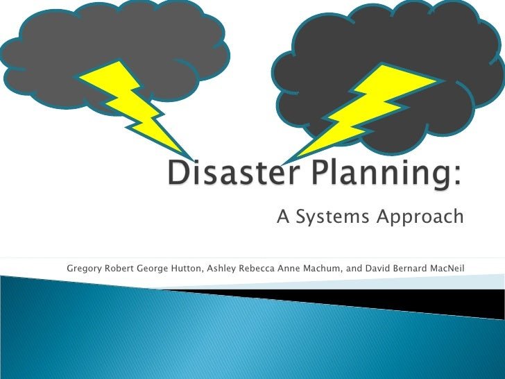 A Systems Approach Gregory Robert George Hutton, Ashley Rebecca Anne Machum, and David Bernard MacNeil