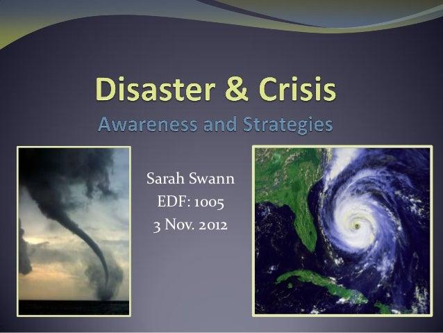 Sarah Swann EDF: 1005 3 Nov. 2012