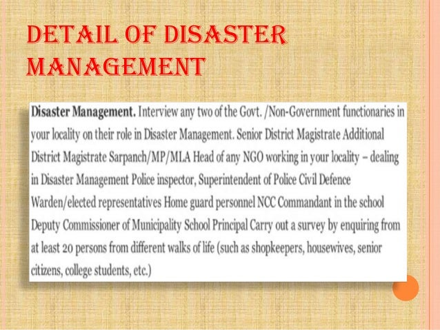 Acknowledgement Of Natural Disaster