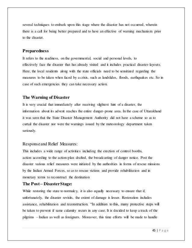 essay on disaster management natural calamities and our preparedness