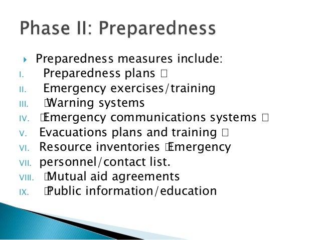 mitigation and preparedness differences