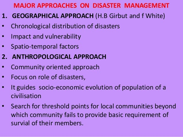 role of communities in disasters Role fo community in disaster management is very important as it is the community which is going to face the disaster, it is very important that community should be part of the complete disaster management process in all three phases- pre, during, post.