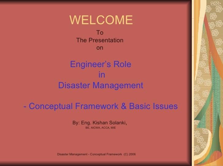 WELCOME <ul><li>To  </li></ul><ul><li>The Presentation  </li></ul><ul><li>on  </li></ul><ul><li>Engineer's Role </li></ul>...