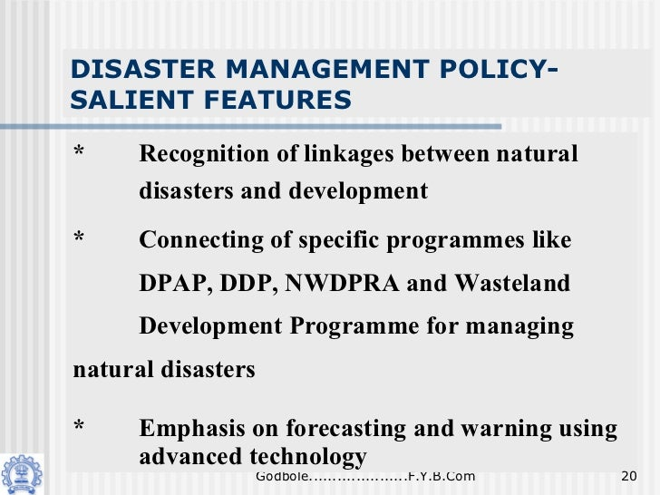 disaster management in india Comparative analysis of disaster management between japan & india www iosrjournalsorg 63 | page principal causes of disasters natural disasters.