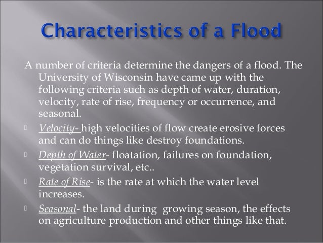 Riverine floods are caused by melting of snow and precipitation over large areas. They take place in rivers. Floods in lar...