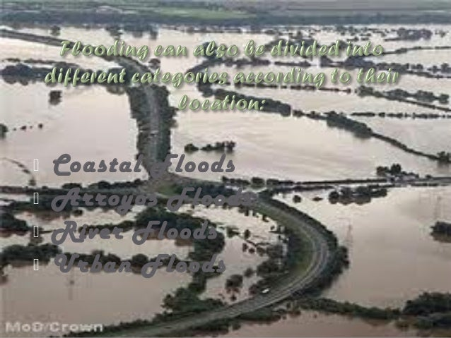 Urban floods are when the land is turned from fields or woods into roads and parking lots. Since this happens it can't abs...