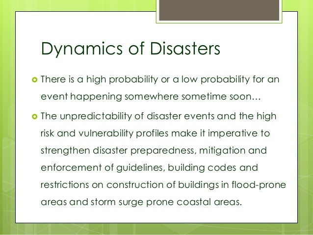 essays about disaster management National disaster risk reduction management plan: disaster preparedness according to the word disaster report of 2012, the philippines ranks third of the most.
