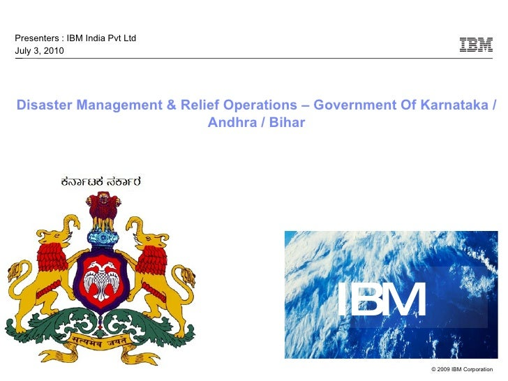 Disaster Management Project - Karnataka