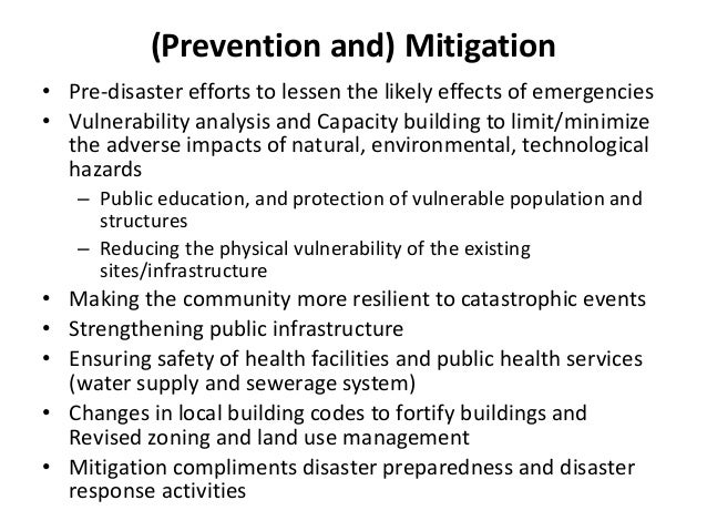 prevention and mitigation analysis 2 essay 2 worldwide number of people  disaster prevention, mitigation & preparedness safeguard development  microsoft word - disast&emerg trng pckge main.