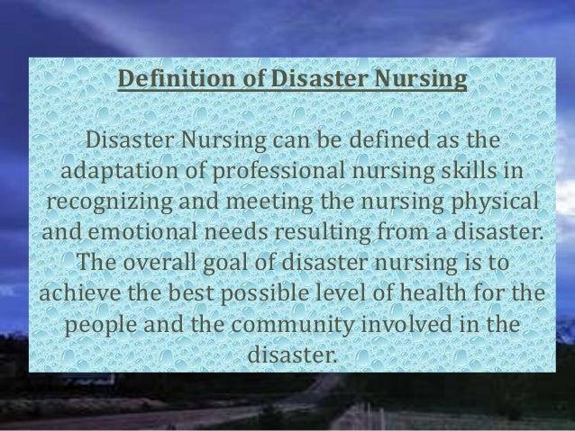 Define the role of the nurse