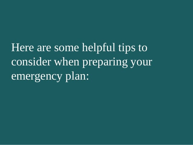 8 Tips For Personal Disaster Preparedness