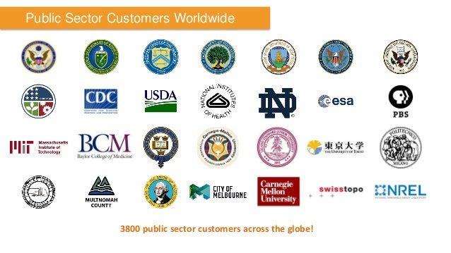Public Sector Customers Worldwide  3800 public sector customers across the globe!