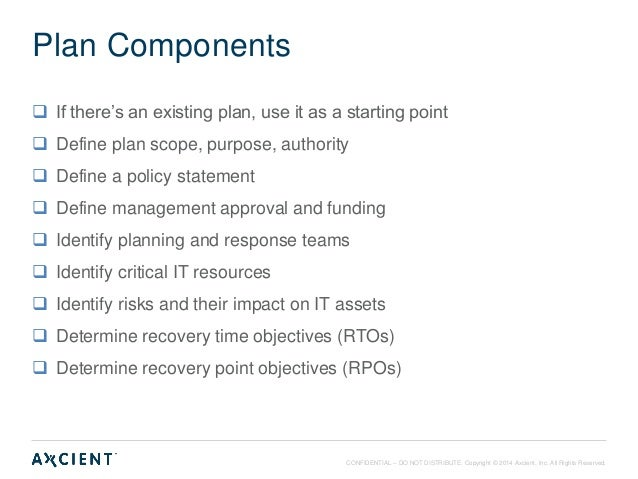 Best practices in disaster recovery planning and testing for Recovery point objective template