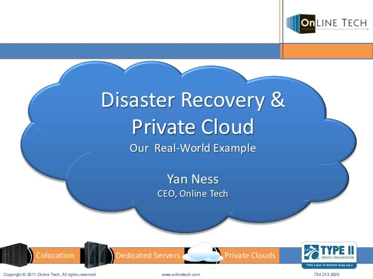 Disaster Recovery &                                                       Private Cloud                                   ...