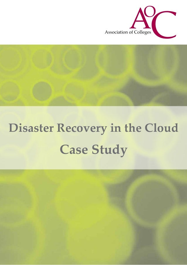 Disaster Recovery in the CloudCase Study