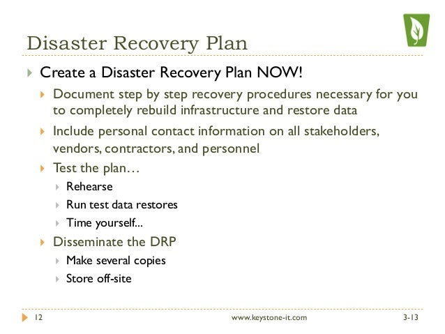 disaster recovery plan sample