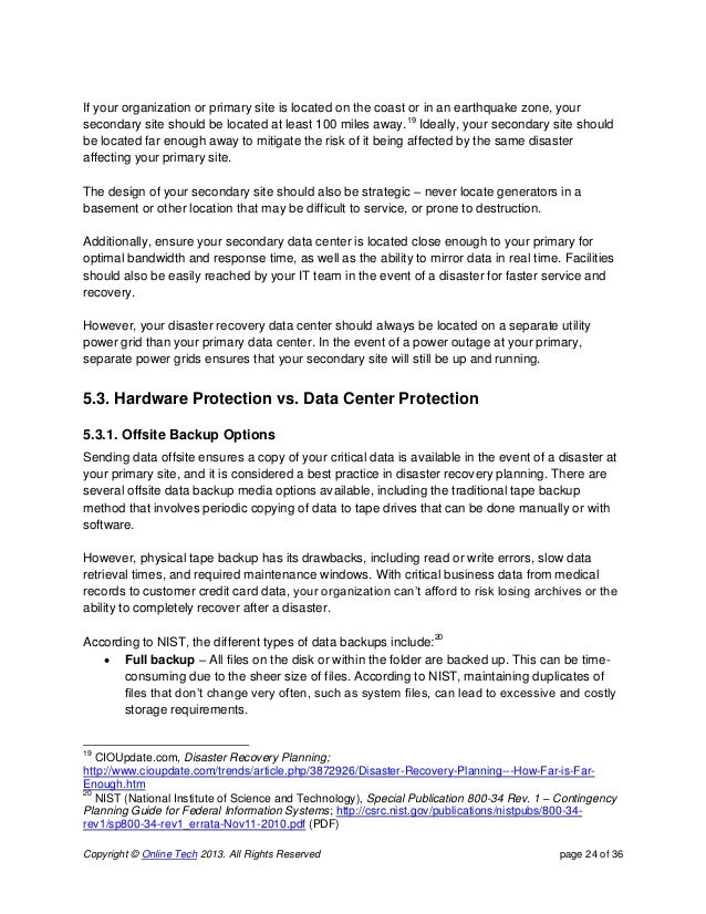 Disaster recovery white_paper