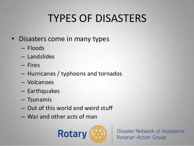 Disaster Relief Be Prepared
