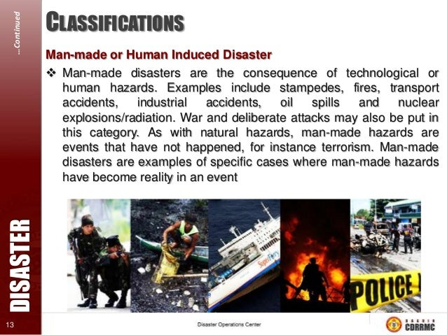…Continued  WHEN IS AN EVENT A DISASTER? 1. At least 20% of the population are affected & in need of emergency assistance ...