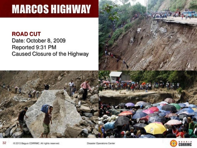PINSAO PROPER LANDSLIDE Date: October 9, 2009 Reported: 8:30 AM Cause: Heavy volume of rainfall saturated the soil. Casual...