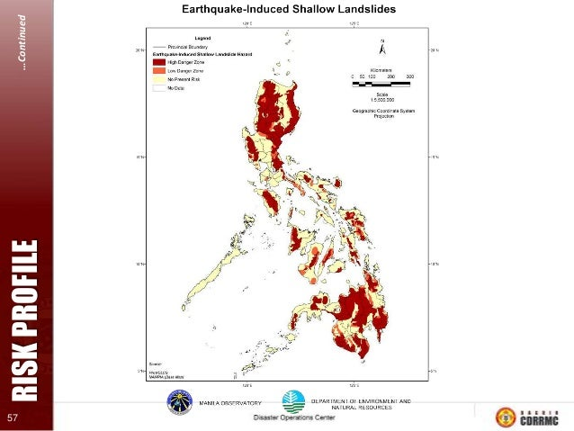 RISK PROFILE  …Continued 61  HISTORICAL SEISMICITY The PHIVOLCS earthquake and catalogue seismicity maps shows so far, sev...