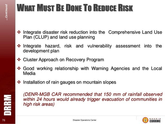 disaster risk management Postgraduate qualifications relevant to disaster risk management  the range of  courses that could align with the priority sector of disaster risk management.