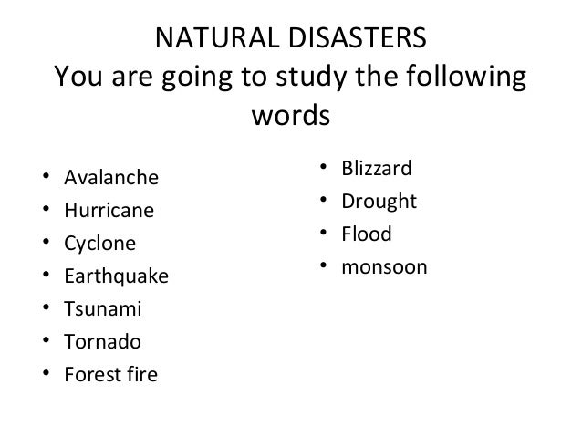 natural disaster in 500 words During and after a disaster, it is natural to experience different and strong  emotions coping with these feelings and getting help when you need.