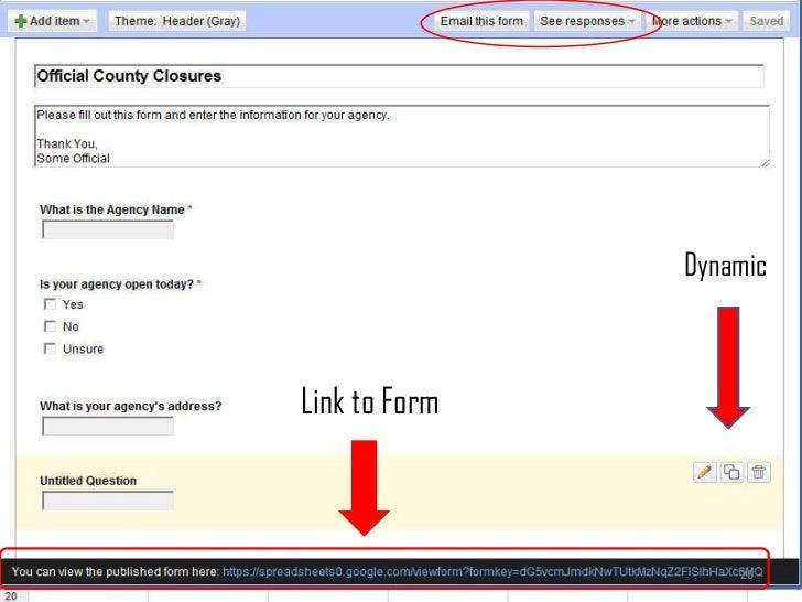 26<br />Dynamic<br />Link to Form<br />