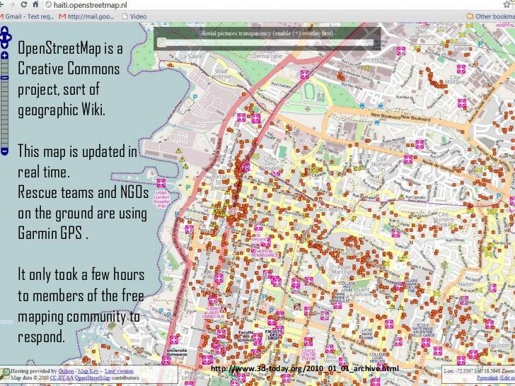 30<br />OpenStreetMaps<br />WikiMapia<br />Google Earth<br />Google Maps<br />ESRI OnDemand<br />