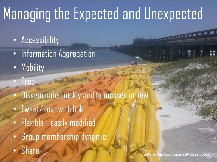 Managing the Expected and Unexpected<br />Accessibility <br />Information Aggregation <br />Mobility<br />Free <br />Disse...