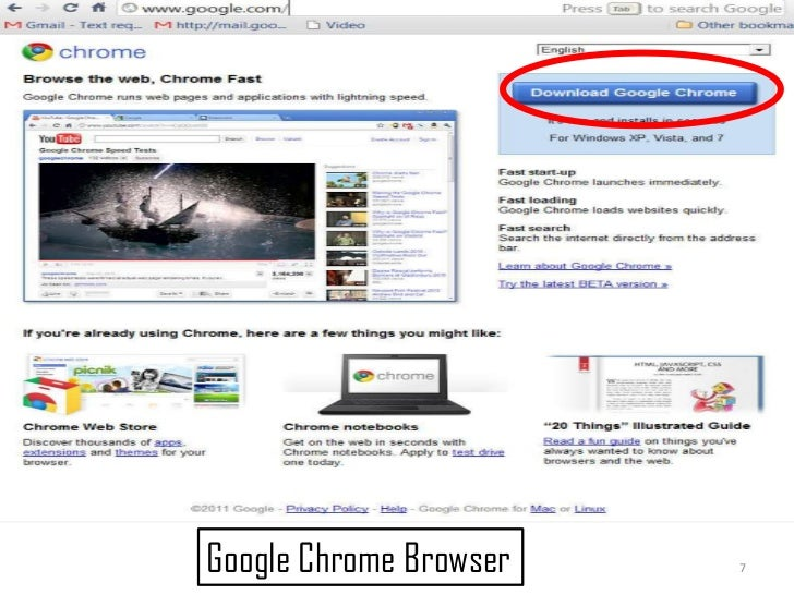 7<br />Google Chrome Browser<br />