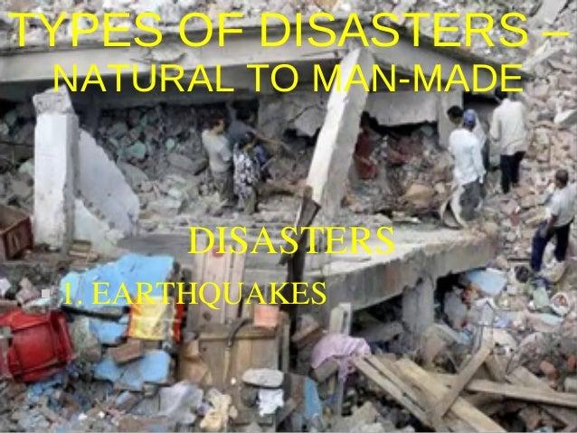 Natural Versus Human-Made Disasters