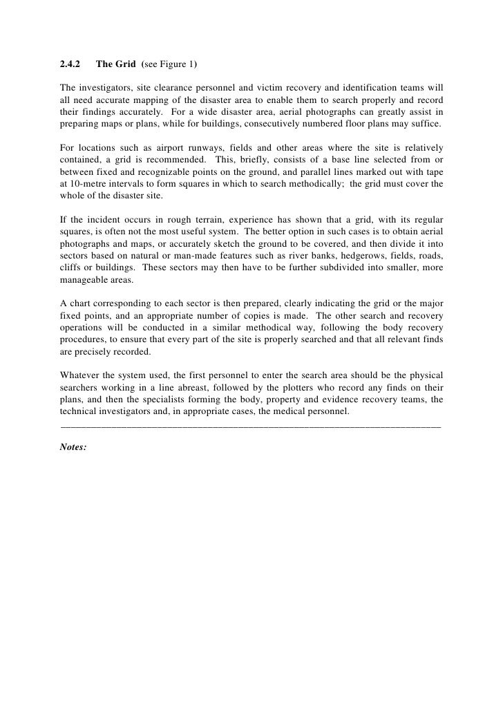 Mass disaster victim identification essay