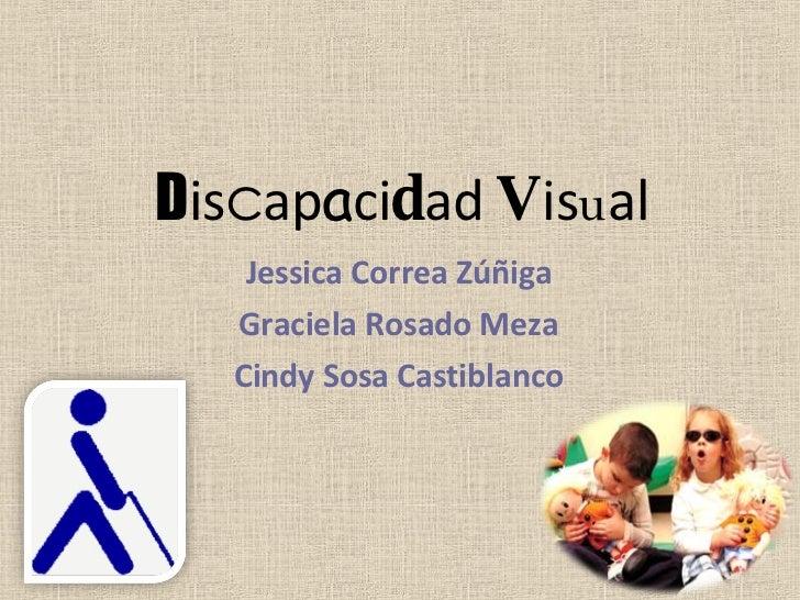 D is c ap a ci d ad  V is u al Jessica Correa Zúñiga Graciela Rosado Meza Cindy Sosa Castiblanco