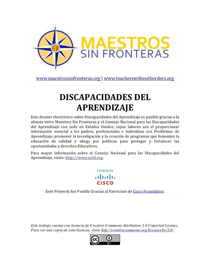 www.maestrossinfronteras.org     www.teacherswithoutborders.org                                                     ...