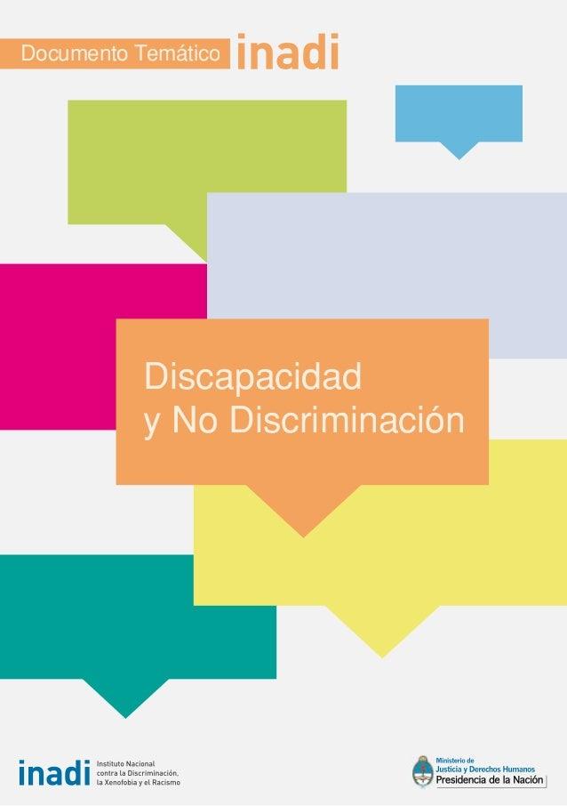 Documento Temático           Discapacidad           y No Discriminación