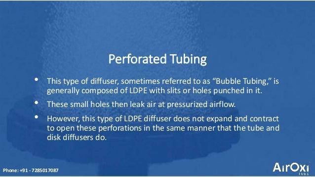 Disc diffuser for aquaculture- AirOxi Tube