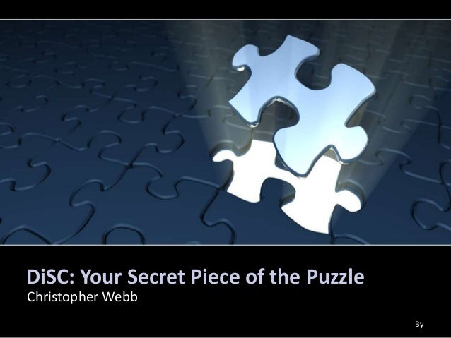 DiSC: Your Secret Piece of the PuzzleChristopher WebbBy