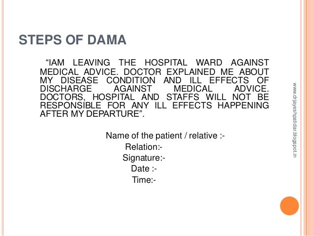 Discharge of a patient