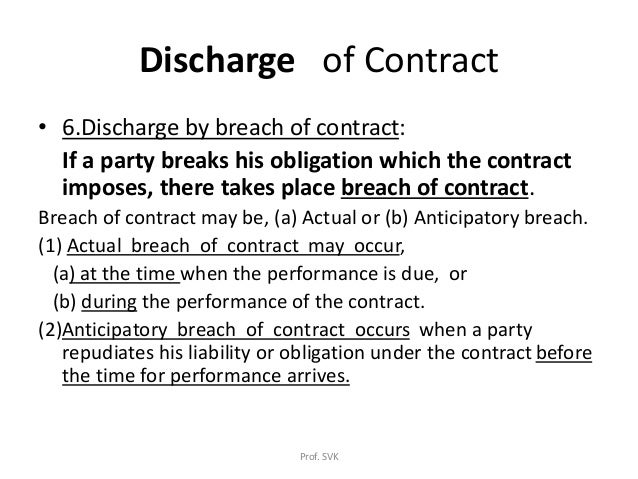 discharge by breach definition