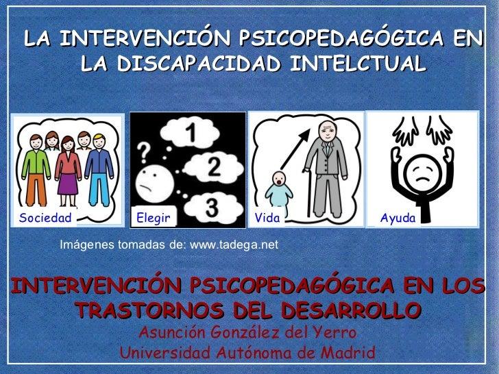 LA INTERVENCIÓN PSICOPEDAGÓGICA EN      LA DISCAPACIDAD INTELCTUALSociedad          Elegir             Vida       Ayuda   ...