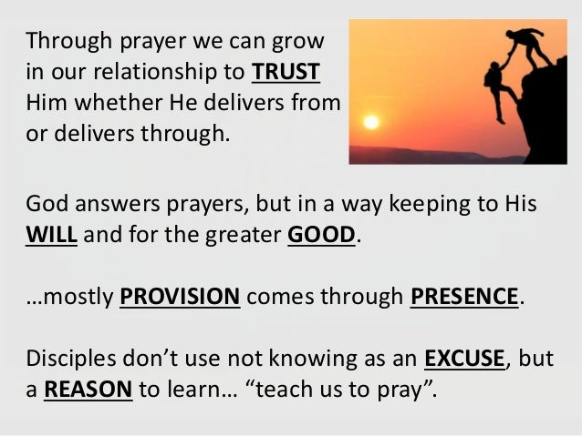 Discipleship 101 (pray daily)