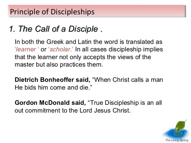 the call to discipleship essay Essay writing guide learn the art of brilliant essay writing with help from our describe how a christian may follow the call to discipleship through daily life.