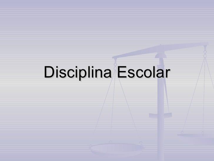 Disciplina Escolar