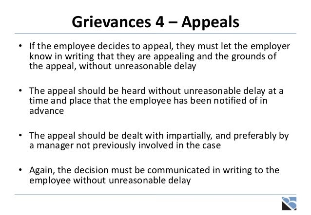 Employee grievance letter
