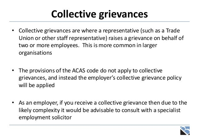 Disciplinaries grievances and settlement discussions concurrently 30 collective grievances pronofoot35fo Choice Image