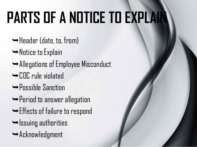 notice to explain memo