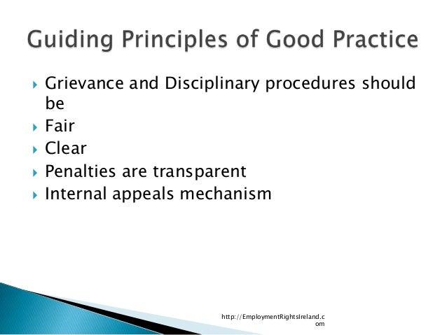 Discipline and grievance - Acas Code of Practice