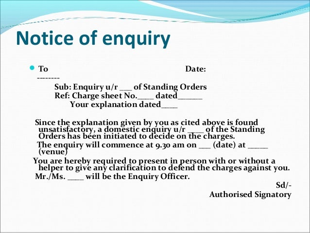show cause notice to employee format Sample letter to an employee, giving him the news of elevation in her status and salary sample appointment letter to an employee after the completion of his probation period difference between show cause notice and charge sheet.