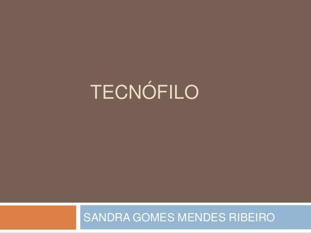 TECNÓFILO  SANDRA GOMES MENDES RIBEIRO